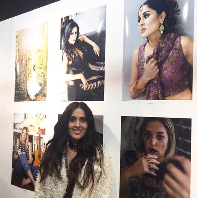 Tonia at art show